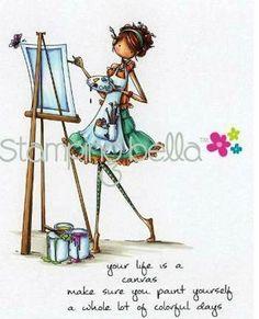 Stamping Bella - Uptown Girls - ABIGAIL THE ARTIST