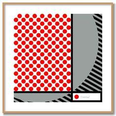 Roy Lichtenstein dots picture.