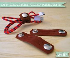 How To: Make Your Own DIY Leather Cord Organizers