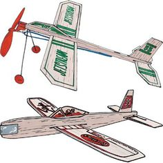 Balsa Wood Plane Kit includes a squadron of 12