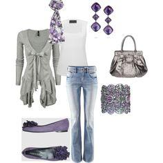 Outfit ~ gray & lavendar