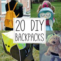20 DIY backpack tutorials