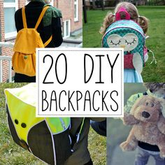 Make your own DIY backpack! 20 great tutorials and patterns.