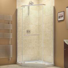 DreamLine Prism 34-1/8 x 34-1/8 Frameless Pivot Shower Enclosure