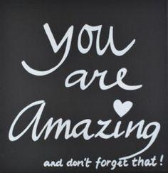 Kiz Canvas - You are Amazing and ... | Nieuw Tekstborden Canvas | Label 123