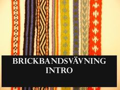 Brickbandsvävning Intro - YouTube