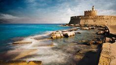 Lighthouse of Rhodes Port, Greece