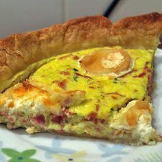 Recette Tarte courgette jambon chèvre par aurelieb33 - recette de la catégorie Tartes et tourtes salées, pizzas