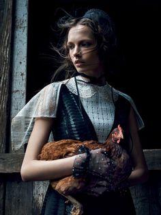 Mina Cvetkovic for Vogue Russia March 2015 - EN - Blog Models Of The World