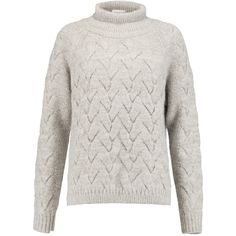Duffy Cable-knit merino wool-blend turtleneck sweater (9.530 RUB) ❤ liked on Polyvore featuring tops, sweaters, taupe, chunky knit sweater, cable sweater, cable knit turtleneck, turtleneck sweater and turtle neck top