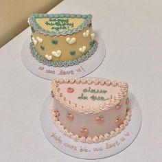 Cute Cakes, Yummy Cakes, Simple Cake Designs, Just Bake, Korean Aesthetic, Cafe Food, Kawaii Wallpaper, Lunch Box, Birthday Cake
