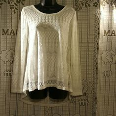 Fashion Lace top White. Size:M. Lace. From Korea Tops Button Down Shirts