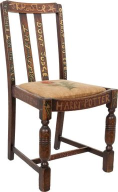 The chair upon which J.K. Rowling sat when she wrote the first two Harry Potter books...