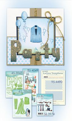 Leane Creatief stempel Party 55.4049 | stansmal Party Combi 45.3943 Dress Suits, Dresses, Gallery Wall, Templates, Frame, Party, Inspiration, Home Decor, Formal Suits