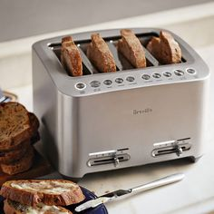 Breville Die-Cast 4-Slice Stainless Steel Smart Toaster