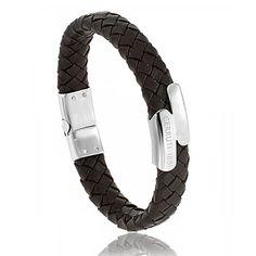 Men stainless steel Neron red-brown bracelets - Cerruti 1881