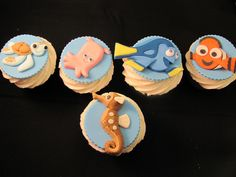 Finding Nemo cupcakes! #food #cute