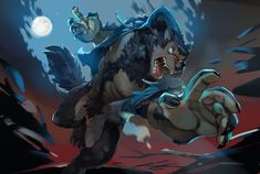 """The Little Ghost Toast - """"Commission for I couldn't say no to drawing a buff werewolf :P"""" Furry Wolf, Furry Art, Fantasy Creatures, Mythical Creatures, Werewolf Art, Furry Drawing, Anthro Furry, Fantasy Art, Monsters"""