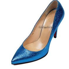 Ladies Bling Pointy Toe High Heels Party #Dress #Shoes #Pumps Gold Black Blue