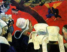 Ecole de Pont Aven : Paul Gauguin - Vision après le Sermon (1888)