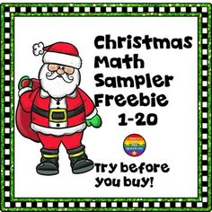 Christmas Math Sampler has sample pages for you to try out some pages from my Christmas Math products for counting and matching sets of 1-20.