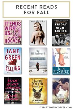 a list of great recent reads for fall to keep your book shelf or kindle full of great things you can read in the upcoming months Books To Read, My Books, Colleen Hoover, Coffee Blog, Book Show, Amazing Ideas, Book Lists, Free Books, Book Lovers
