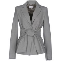 Patrizia Pepe Blazer ($244) ❤ liked on Polyvore featuring outerwear, jackets, blazers, grey, patrizia pepe, stretch blazer, patrizia pepe jacket, grey jacket and blazer jacket