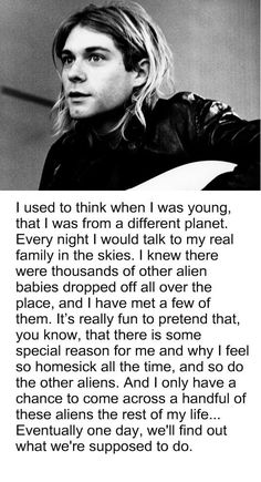I feel like this quite often…maybe I'm an alien baby too..