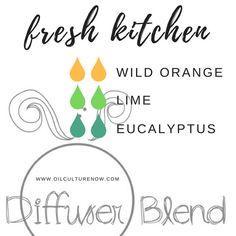 Fresh Kitchen - Essential Oil Diffuser Blend