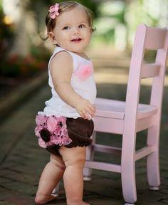 RuffleButts Infant Girl White Tank Top w/ Pink Organza Flower