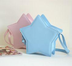 Star shape shoulder bag cute lolita bag star zipper 6 colors free shipping - Thumbnail 3