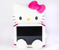 ❤Kawaii Love❤ ~Hello Kitty Plush Tablet PC Stand in Accessories Electronics Laptop & iPad Cases at Sanrio