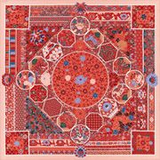 """La Maison des Carrés Hermès   55"""" x 55"""" shawl Collections Imperiales pink"""