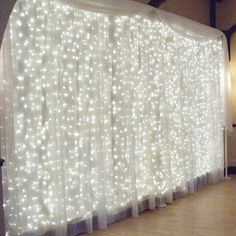 String Curtain Light Window Curtain String Fairy Light 300led 98feet White Wedding Led Icicle Lights for Home Graden Kitchen Outdoor Wall Christmas Party Window Decorations * Find out more about the great product at the image link.