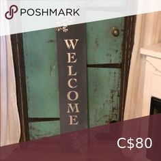Silver and grey welcome front door board Silver and grey welcome front door board Accents Decor Home Accents, Welcome, Accent Decor, Congratulations, Boards, Grey, Silver, Closet, Things To Sell