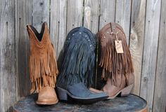 LIBERTY BLACK Fringe Boot Vegas Faggio Womens ....... I think I need another pair in a different color :)