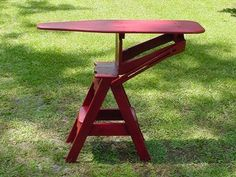 Combination Small Ironing Board, Sitting Stool And Step Stool