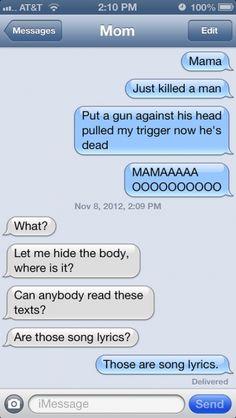 when parents text... LOL