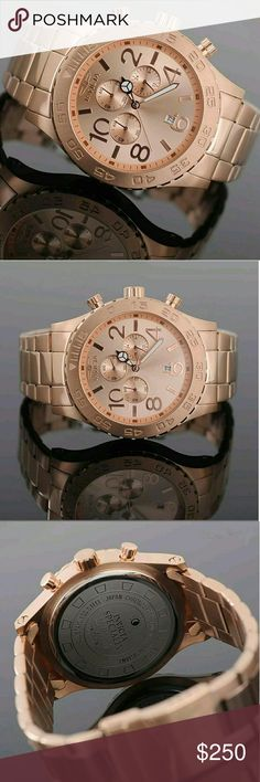 NWT $900 Invicta rose gold chronograph Men's Watch NWT $900 Invicta rose gold chronograph Men's Watch.    Firm price firm price firm price?  $250.00  . AUTHENTIC WATCH?  . AUTHENTIC BOX?  . AUTHENTIC MANUAL?    SHIPPING  PLEASE ALLOW FEW BUSINESS DAYS FOR ME TO SHIPPED IT OFF.I HAVE TO GET IT FROM MY STORE.?    THANK YOU FOR YOUR UNDERSTANDING Invicta Accessories Watches