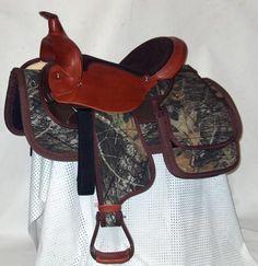 Insulated neoprene Camo Saddle Bags