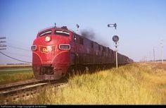 RailPictures.Net Photo: GM&O 100 Gulf, Mobile & Ohio EMD E7(A) at Williamsville, Illinois by Joe McMillan