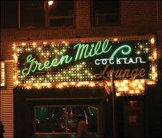 """The Green Mill on Broadway near Lawrence in Chicago. One of the very few bars left in the city that still has the decor from the roaring 20's. A haunt of Al Capone and the birth of the Chicago Poetry Slams. """"High Fidelity"""" shot scenes from here as well. A must visit place at least once."""
