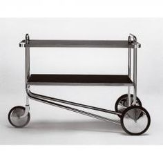 A tea trolley by Marcel Breuer. My cat would eventually use this as a sleeping spot.