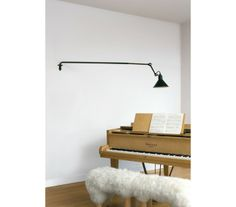 The Lampe Gras 213 Wall Lamp - Black Satin by Lampe Gras has been designed by Bernard-Albin Gras. A simple, robust, ergonomic design classic. Designed in years ahead of its time the 213 wall light has an excellent range of movement, thanks t. Shelf Lamp, Dcw Editions, Lampe Gras, Cast Steel, Table Shelves, Store Design, Black Satin, Small Spaces, Wall Lights