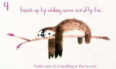 How to draw … a sloth _ by Chris Appelhan