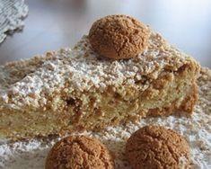 Dolce agli Amaretti Torte Cake, Sweet Cakes, Italian Recipes, Banana Bread, Food And Drink, Gluten Free, Sweets, Chocolate, Pane