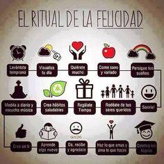 El ritual de la felicidad (pineado por @PabloCoraje) #Citas #Frases #Quotes #Love #Amor