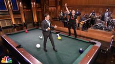 Jimmy competes against Hugh Jackman in a giant game of billiards featuring bowling balls and no pool cues. Subscribe NOW to The Tonight Show Starring Jimmy F...