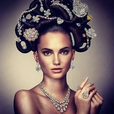 In 2013, Graff Diamonds recreated its iconic 1970s 'Hair and Jewel' image featuring 22 extremely rare and unique jewels with a value of half-a-billion dollars.
