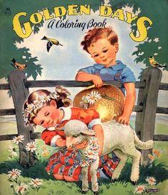 Golden Days Viontage Coloring Book
